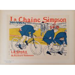 Maîtres de l'Affiche Original PLate 238 La Chaîne Simpson TOULOUSE LAUTREC