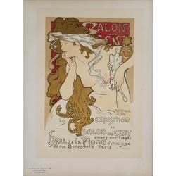 Maîtres de l'Affiche Original PLate 94 Salon des cent Alfonse MUCHA