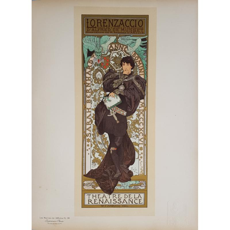 Maîtres de l'Affiche Planche originiale 114 LORENZACCIO Alfonse MUCHA