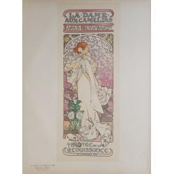 Maîtres de l'Affiche Planche originiale 144 La Dame Aux Camelias Sarah Bernhardt Alfonse MUCHA