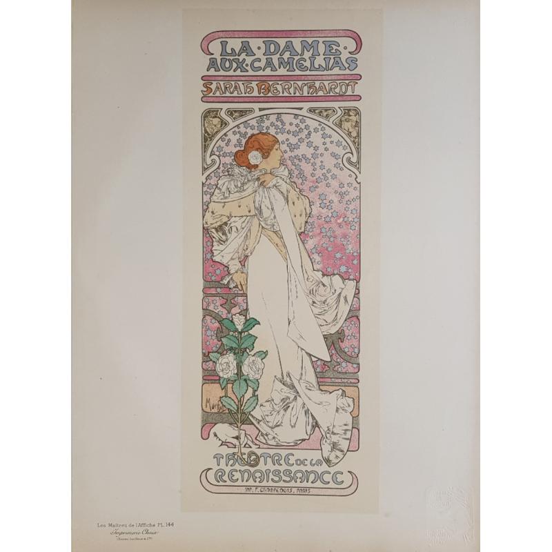 Maîtres de l'Affiche Original PLate 144 La Dame Aux Camelias Sarah Bernhardt Alfonse MUCHA
