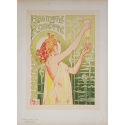 Maîtres de l'Affiche Original PLate 104 Absinthe Robette PRIVAT-LIVEMONT