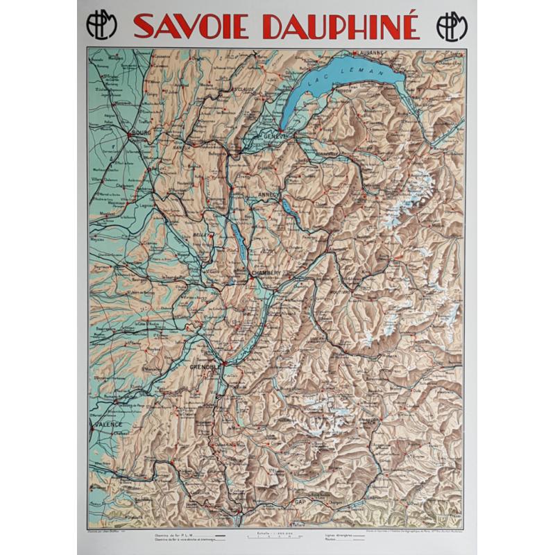 Affiche ancienne originale PLM Savoie Dauphiné Jean DOLLFUS