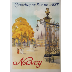 Original vintage poster Nancy Chemin de Fer de l'Est TOUSSAINT
