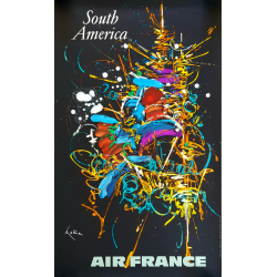 copy of Original vintage poster Air France South America Georges MATHIEU