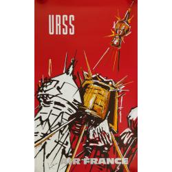 Original vintage poster Air France URSS Georges MATHIEU