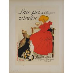 Maîtres de l'Affiche Original PLate 95 Lait Pur Stérilisé de la Vingeanne STEINLEN