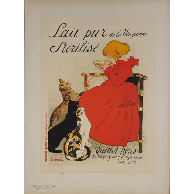 Maîtres de l'Affiche Planche originiale 95 Lait Pur Stérilisé de la Vingeanne STEINLEN