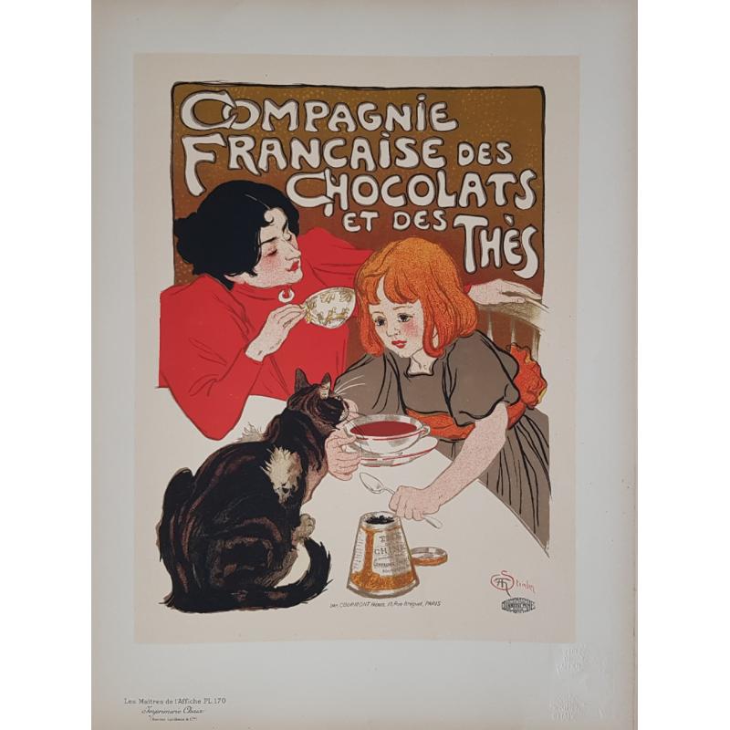 Maîtres de l'Affiche Planche originiale 170 Compagnie Française des Chocolats et des Thés STEINLEN