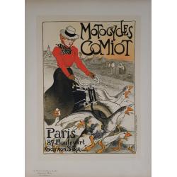Maîtres de l'Affiche Planche originiale 190 Motocycles Comiot STEINLEN