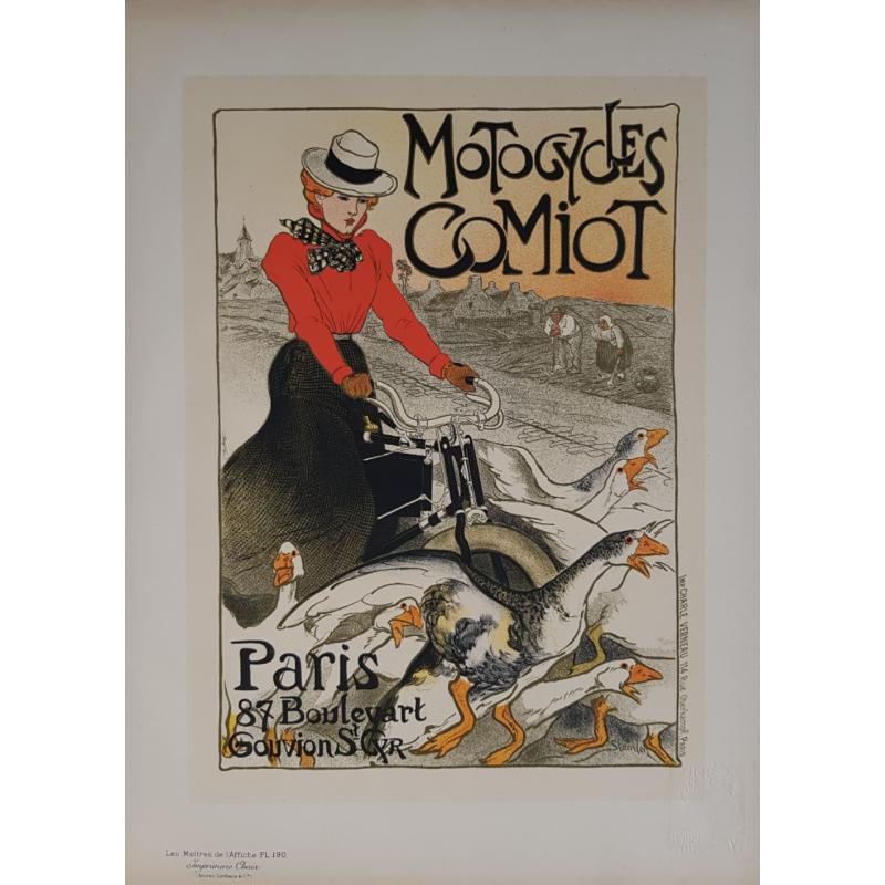 Maîtres de l'Affiche Original PLate 190 Motocycles Comiot STEINLEN