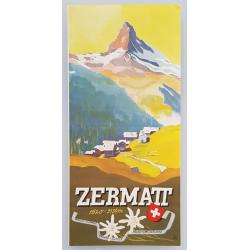 Brochure dépliant publicitaire Zermatt Suisse