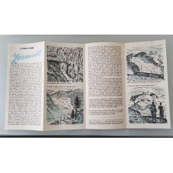 Brochure dépliant publicitaire Zermatt Suisse intérieur