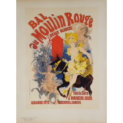Maîtres de l'Affiche Original PLate 53 Bal au Moulin Rouge Jules CHERET