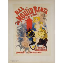 Maîtres de l'Affiche Planche originiale 53 Bal au Moulin Rouge Jules CHERET