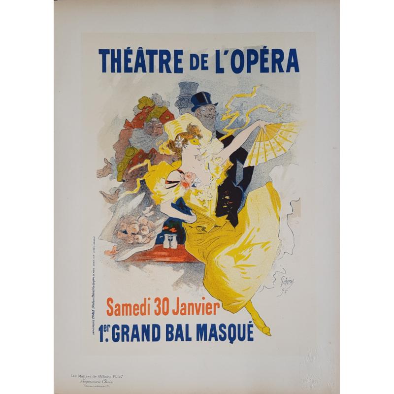 Maîtres de l'Affiche Planche originiale 57 Théatre de l'Opéra Jules CHERET