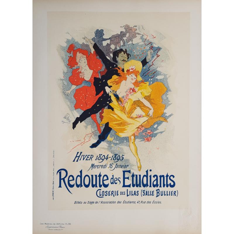 Maîtres de l'Affiche Original PLate 85 Redoute des Etudiants Jules CHERET