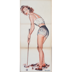 Original vintage poster golf Pierre Laurent BRENOT