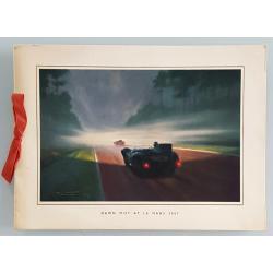 Carte ancienne originale Jaguar Drivers Club 24 heures mans 1957