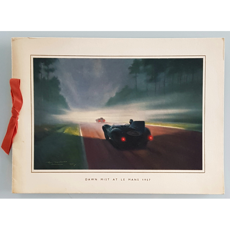 Original vintage card Jaguar Drivers Club 24 heures mans 1957