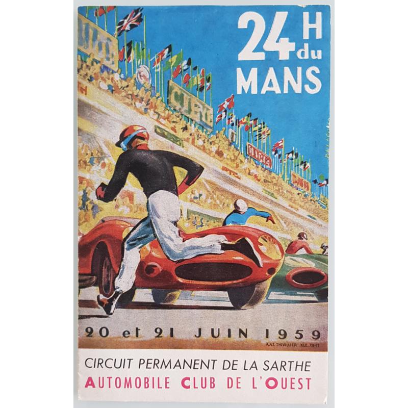Brochure dépliant publicitaire 24 heures du Mans 1959