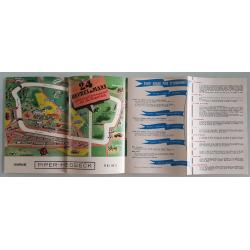 Brochure dépliant publicitaire intérieur 24 heures du Mans 1959