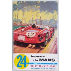 Brochure dépliant publicitaire 24 heures du Mans 1961