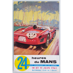 Original advertising flyer brochure 24 hours of le Mans 1961