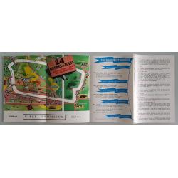 Brochure dépliant publicitaire intérieur 24 heures du Mans 1961
