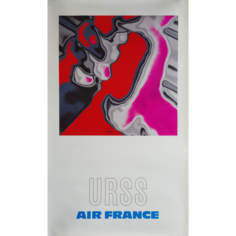 Original vintage poster Air France URSS PAGES Raymond