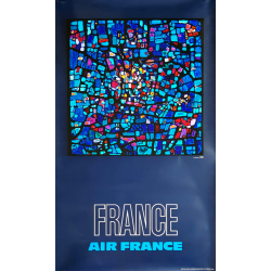 Affiche ancienne originale Air France FRANCE PAGES Raymond