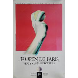 Original vintage poster Tennis 3eme Open Paris BERCY