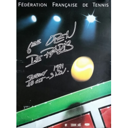 Affiche ancienne originale Tennis 6eme Open Paris BERCY