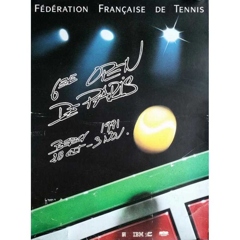 Original vintage poster Tennis 6eme Open Paris BERCY