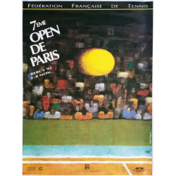 Affiche ancienne originale Tennis 7eme Open Paris BERCY