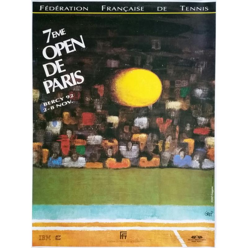 Affiche ancienne originale Tennis 7eme Open Paris BERCY