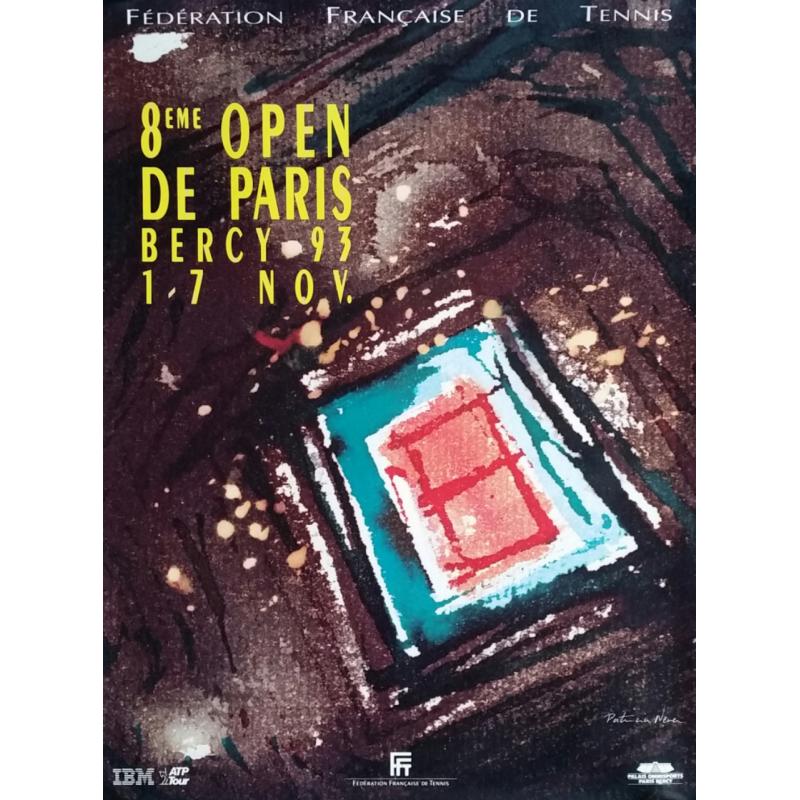 Affiche ancienne originale Tennis 8eme Open Paris BERCY
