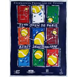 Original vintage poster Tennis 11eme Open Paris BERCY by Catherine SUCHOCKA