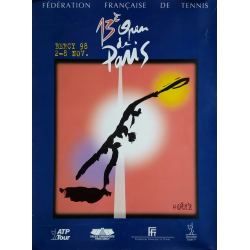 Affiche ancienne originale Tennis 13eme Open Paris BERCY par ANDRE M