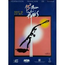 Original vintage poster Tennis 13eme Open Paris BERCY by ANDRE M
