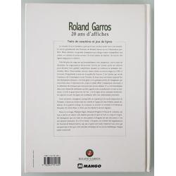 Livre Roland Garros 20 ans d'affiches arrière