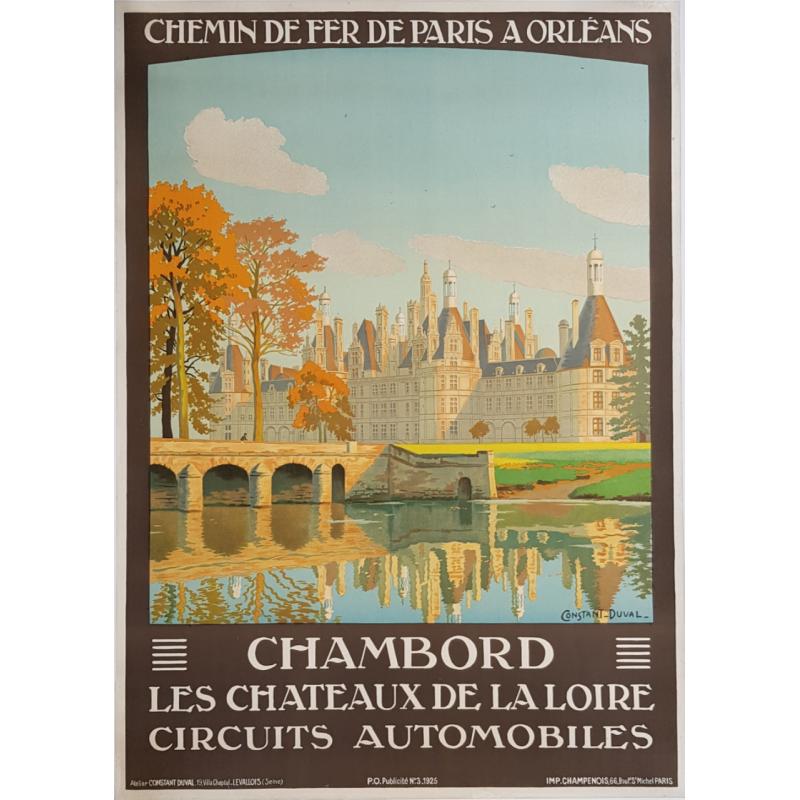 Original vintage poster Château de CHAMBORD CONTANT-DUVAL