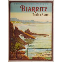 Original vintage poster Biarritz Toute l'année DUMOULIN