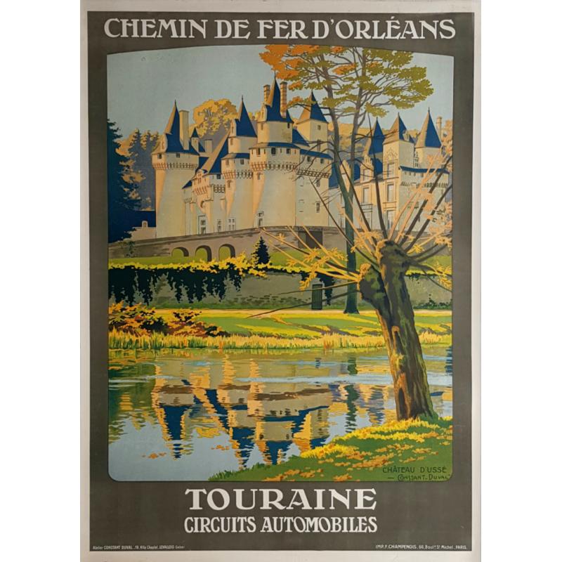 Original vintage poster Touraine Château d'USSÉ CONTANT-DUVAL
