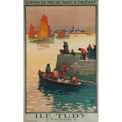 Original vintage poster Ile TUDY Finistère ALO