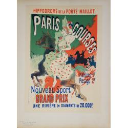 Maîtres de l'Affiche Original PLate 61 Paris Courses Jules CHERET