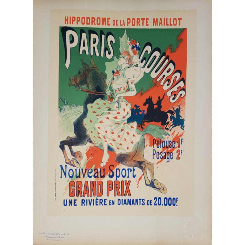 Maîtres de l'Affiche Planche originale 61 Paris Courses Jules CHERET