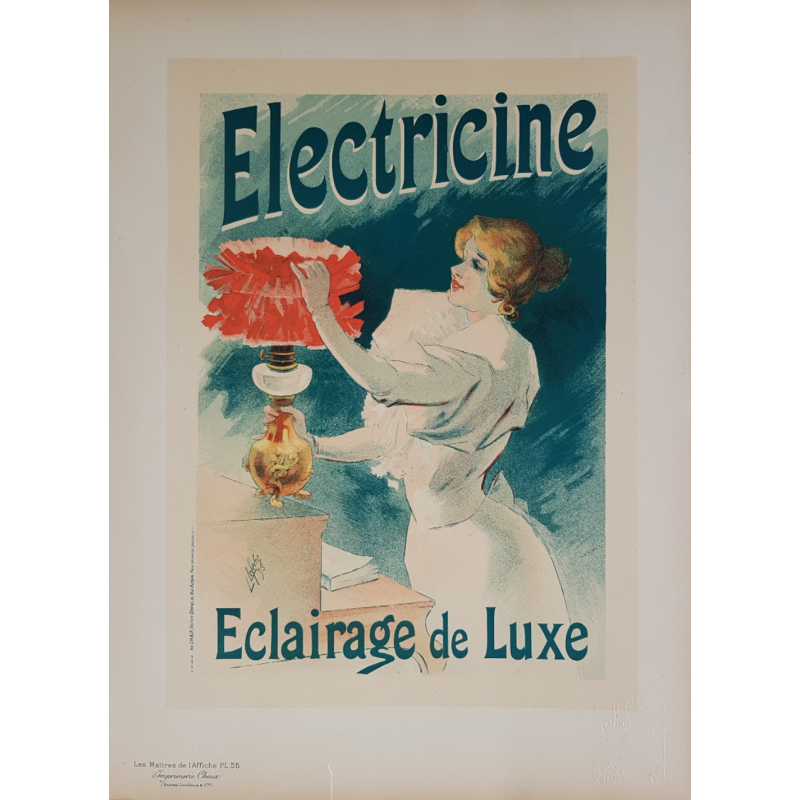 Maîtres de l'Affiche Original PLate 55 Electricine Jules CHERET