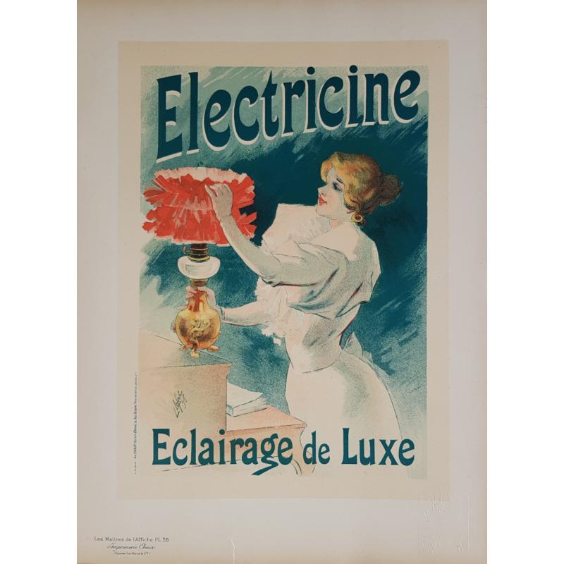 Maîtres de l'Affiche Planche originale 55 Electricine Jules CHERET