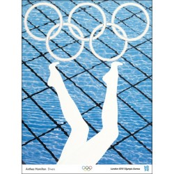 Affiche originale Jeux olympique de Londres 2012 HAMILTON Anthea